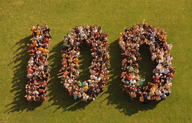 Loyola students, faculty, and staff came together for a memorable photo.