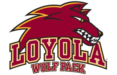 New Loyola Wolf Pack logo.