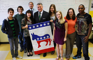 The Hon. David A. Bowers, J.D. '78, and Roanoke Young Democrats