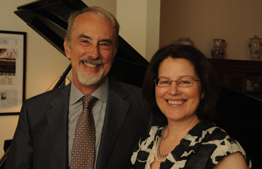 Beloved faculty members Philip and Ellen Frohnmayer.